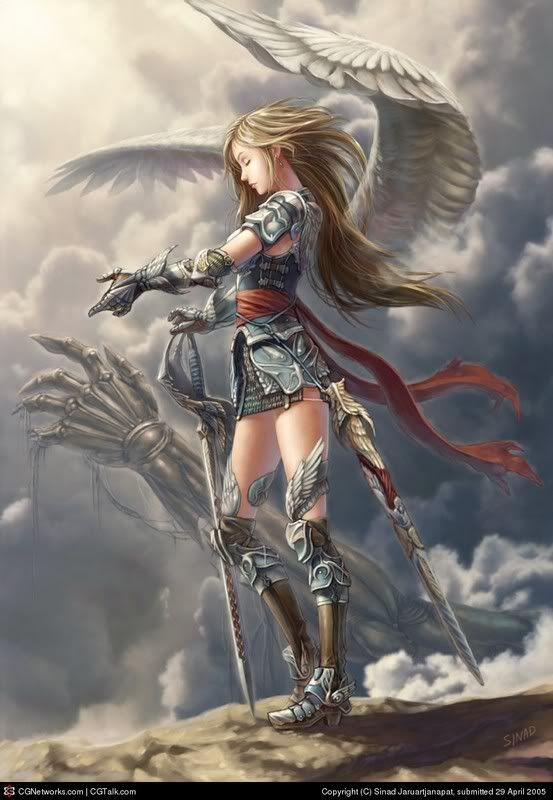 anime girl with wings and a sword | The Dark Knights, either Kill or be Killed...( Seeking members...)