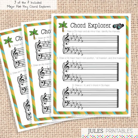 Chord explorer printables theory game fun music theory for kids ch
