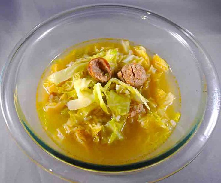 Spicy Sausage, Cabbage & Rice Soup