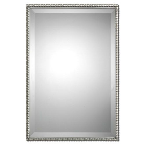 Brushed Nickel Sherise Rectangle Mirror Uttermost Rectangle Mirrors H ...