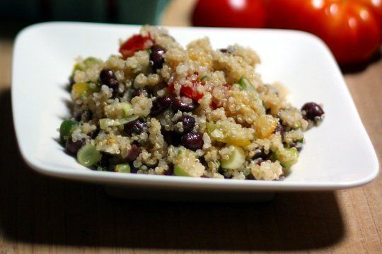Black bean and heirloom tomato quinoa salad with a lemon dressing ...