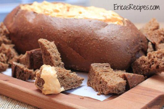 cheddar-beer pumpernickel bread dip ericasrecipes 2 watermark