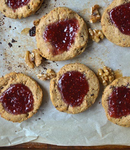 Jammy Raspberry and Walnut Scones