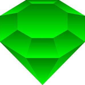 Emerald Emmy A Clip Art | gem and geo art | Pinterest