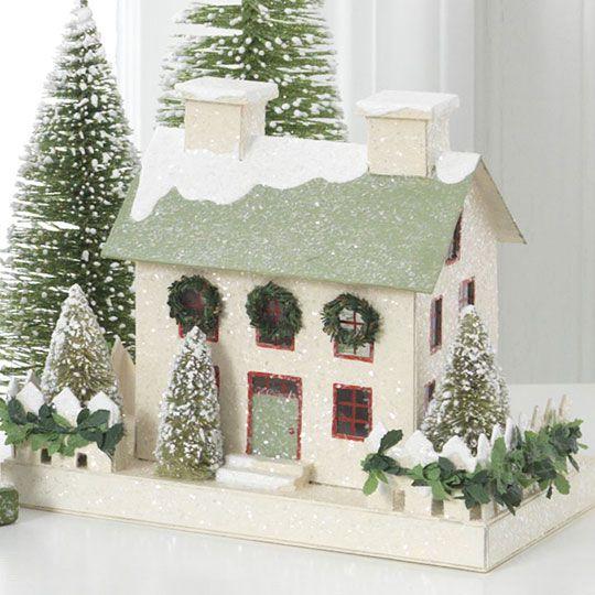 Putz holiday house | Joyeux Noël - Christmas | Pinterest