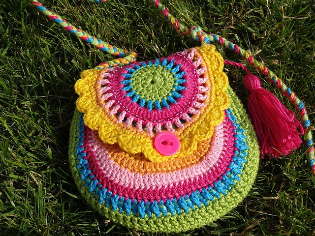 Ravelry: jankees rainbow purse Crochet - Kids Bags Pinterest