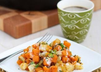 sweet potato amp endive hash with sriracha buttermilk sauce discover ...