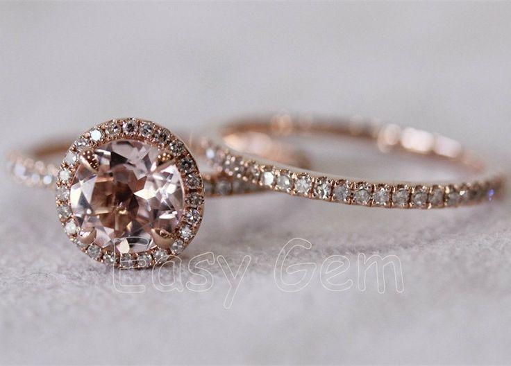 Rose Gold Rings Rose Gold Rings With Morganite