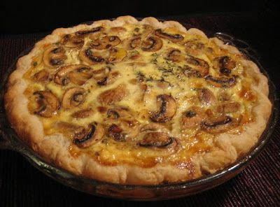 Mushroom and Brie Quiche | Eats | Pinterest