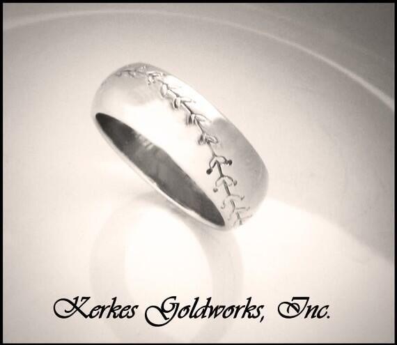 Baseball Wedding Ring Rings Pinterest