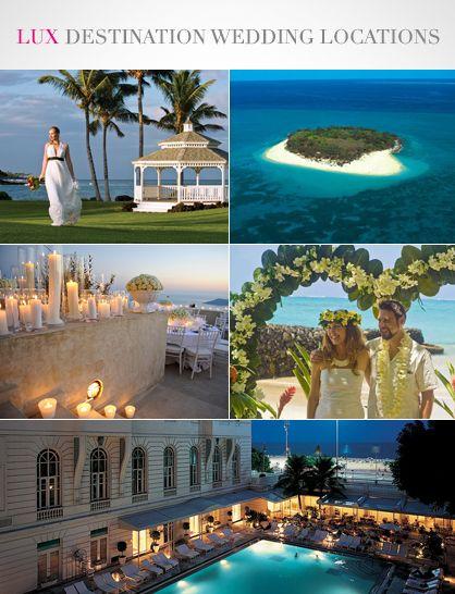 Lux travel top 5 destination wedding locations for Top destination wedding locations