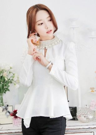 Korean White Blouse 110