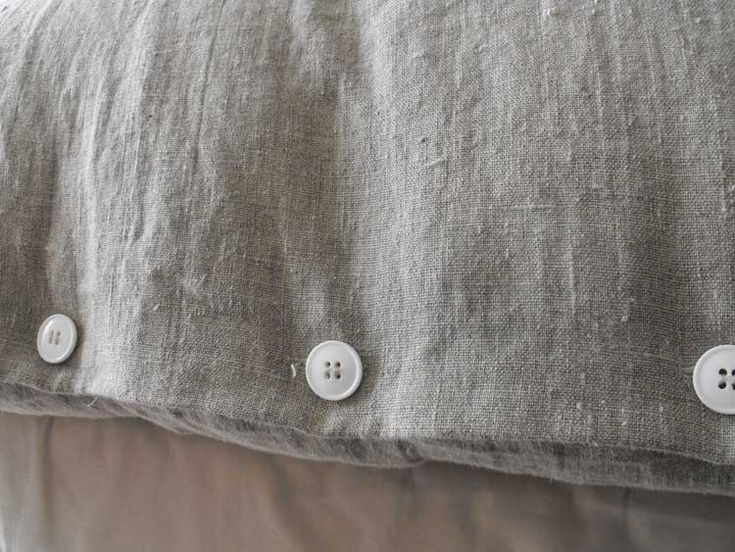 buttons and linen