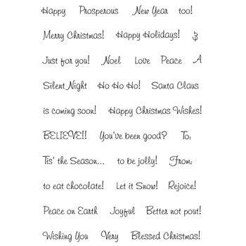 christmas words and phrases | PK-859 Christmas Greeting Words: Peachy ...