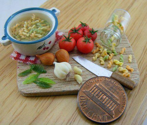 mini homemade soup preparation