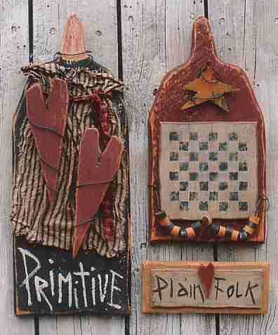 DIY Primitive Country Crafts - Free Primitive Craft Patterns