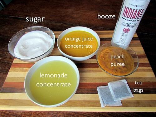Girls Night Necessity: Peach Vodka Slushies