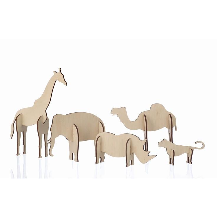 So cute for a nursery! // ferm LIVING plywood animals