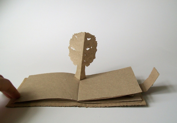 how to make a simple pop up book