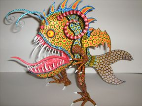 The work of Ricardo Linares, master alebrije creator. Oaxaca, Mexico.