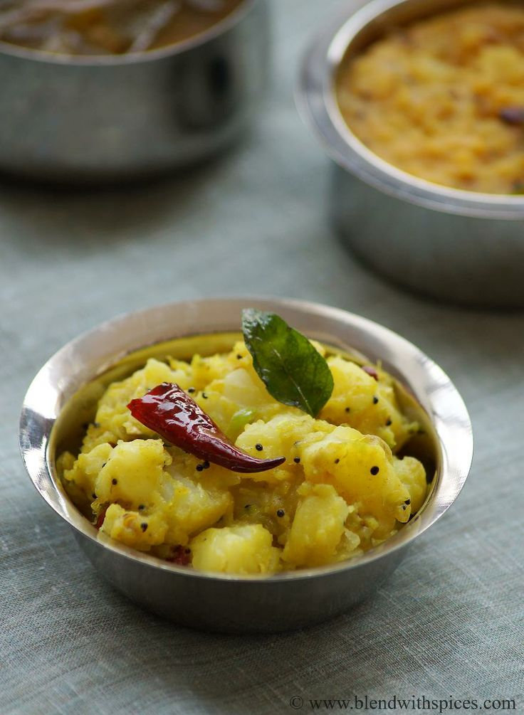 Potato Curry with Ginger & Green Chillies - Quick and delicious South ...