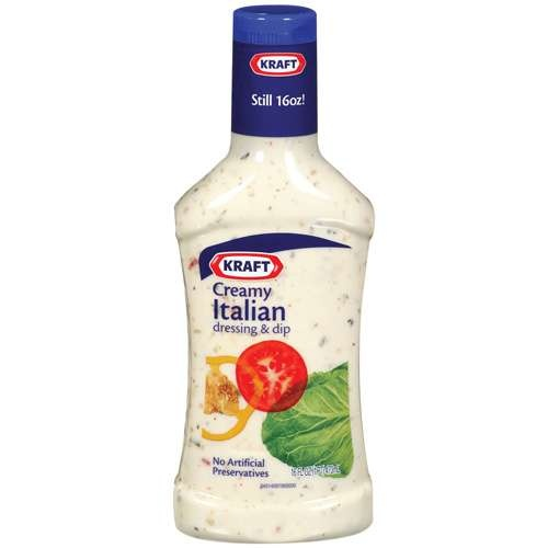 ... Italian dressing mixed equally with Kraft roasted red pepper Italian