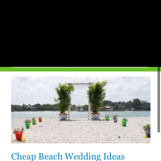 Cute but cheap beach wedding decorations