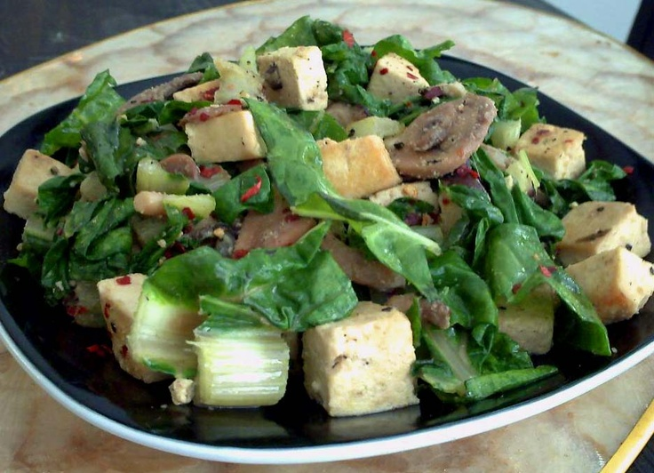 quick amp easy tofu mushroom amp swiss chard stir fry serves 4 total ...