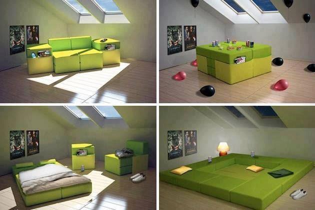 Modular furniture for small spaces!  Bahaybahayan  Pinterest