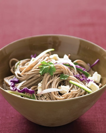 for sweltering summer days: Cold Soba Noodles with Feta and Cucumber ...