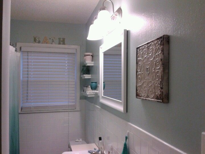 My Small Bathroom Redo For The Home Pinterest