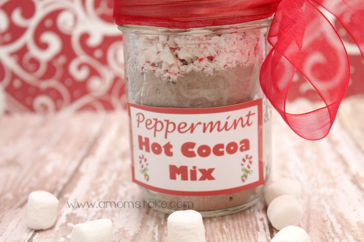 Recipes in a Jar: Peppermint Hot Cocoa Mix   Recipe