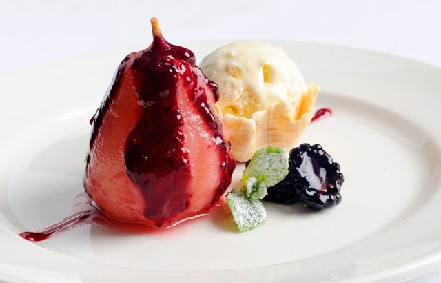 ... with winter berry coulis, fennel and ginger ice cream - Alfred Prasad