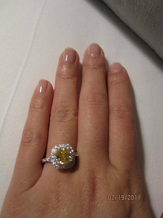 NEW Tiffany Yellow Diamond Engagement Ring - PurseForum