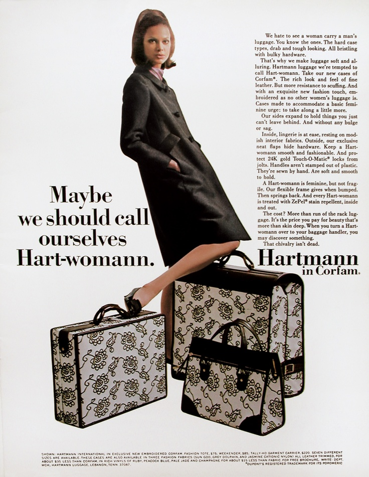 Traveling in Style, back in the day - Hartmann Luggage ad, circa 1970