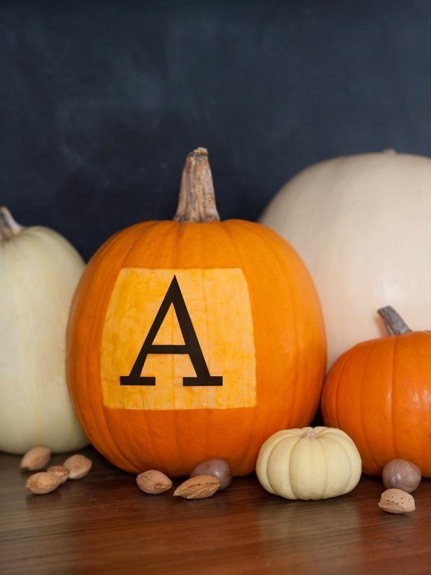 Halloween Ideas: How to Make a Monogrammed Pumpkin