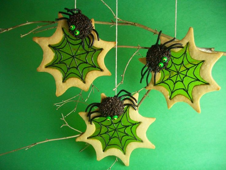 Spooky Spider Stained Glass Cookies For Halloween Recipes — Dishmaps
