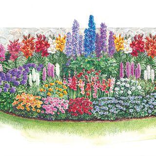 3 season cutting garden plan flowers pinterest for Cut flower garden designs