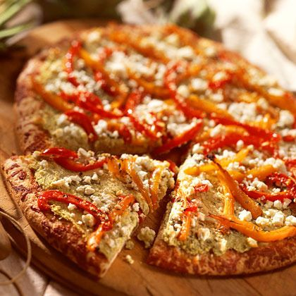 Artichoke-and-Red Pepper Pizza by Cooking Light