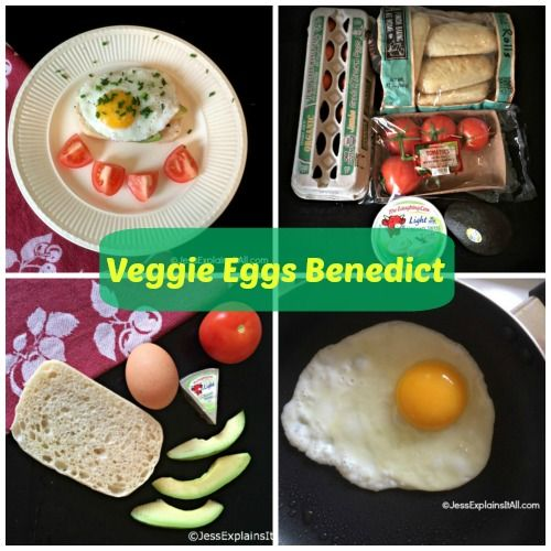 Vegetarian Eggs Benedict   Healthy food that LOOKS delish!   Pinterest