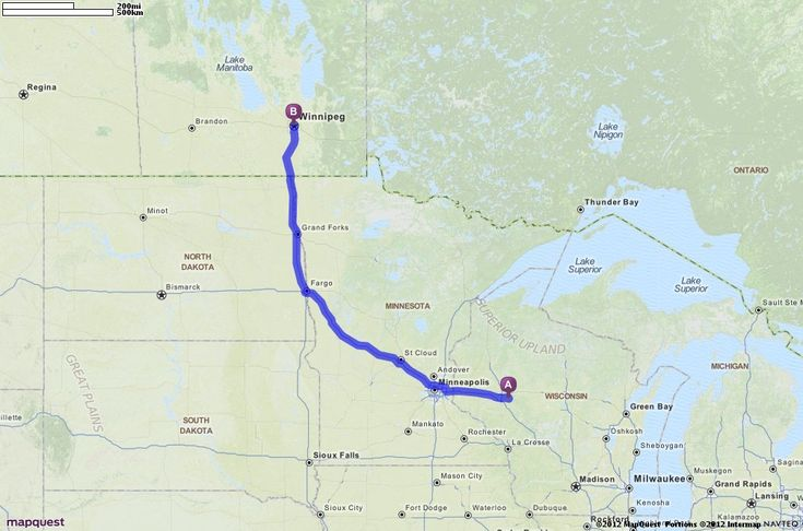 Driving Directions from , Fall Creek, Wisconsin 54742 to Winnipeg, Canada | MapQuest