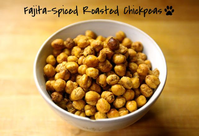 ... Healthy, Easy Superbowl Snack: Fajita-Spiced Roasted Chickpeas