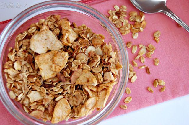 table for seven: {Crock Pot} Apple Cinnamon Granola
