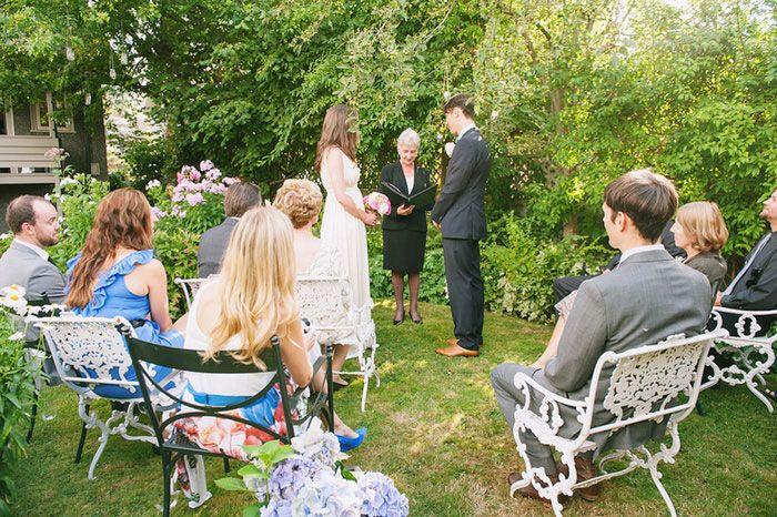 Low Key Vancouver Backyard Wedding
