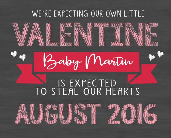 184 best Valentines Day Pregnancy Announcements images on ...