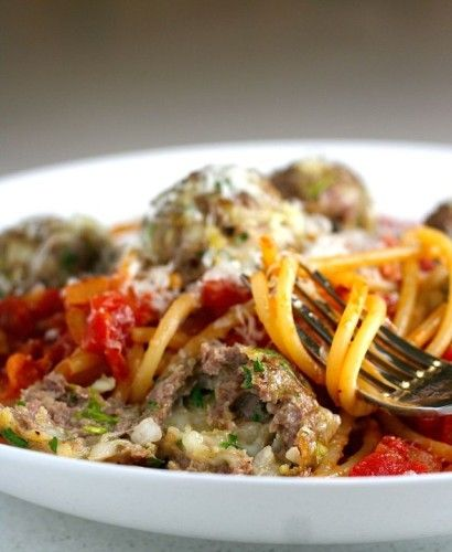 Bucatini all'Amatriciana with Smoked Mozzarella Meatballs | Tasty ...