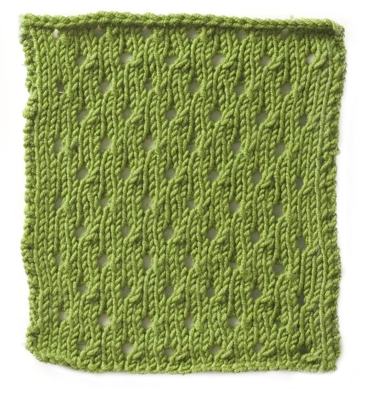 Eyelet Stitch Knitting Pinterest