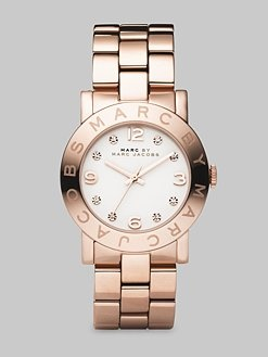 Rose Gold Finished Stainless Steel Bracelet Watch