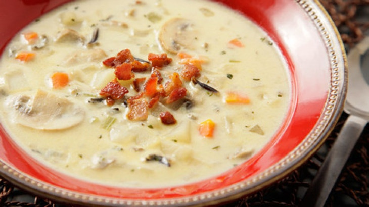 Mushroom and Wild Rice Chowder Recipe | soup recipes | Pinterest