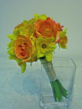 Rose and Daffodil Bridal Bouquet
